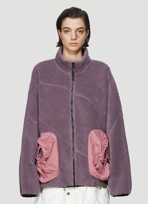 Li Ning Drawstring Pocket Fleece Knit Top in Purple