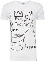 Eleven Paris Basquiat Regular Fit Evil Thoughts Crew Neck Tee