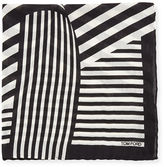 Tom Ford Wide-Stripe Pocket Square