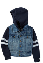 Urban Republic 5 Pocket Hood Denim Jacket (Little Boys)