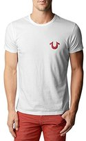 True Religion Men's Puff Logo Tee Shirt, Ruby Red, XX-Large
