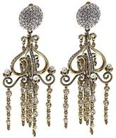 crystal and pearl chandelier earrings - ShopStyle