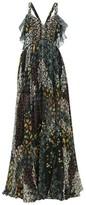 Etro Uschi Floral-print Silk Maxi Dress - Womens - Black Multi