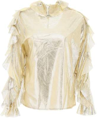 In The Mood For Love Jessica Lame Blouse