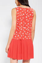 Urban Outfitters Cooperative Double-Layer Drop-Waist Tank Dress