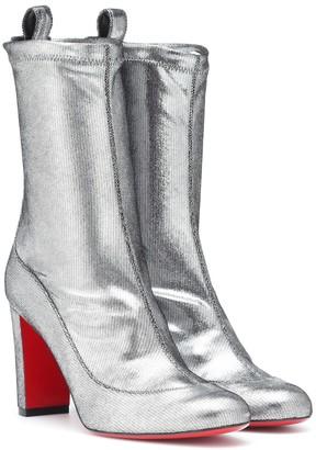 Christian Louboutin Gena 85 metallic leather boots