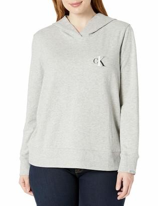 Calvin Klein Women's Size One Cotton Plus Long Sleeve Hoodie