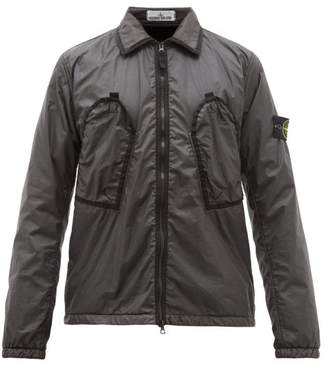 Stone Island Garment Dyed Shell Jacket - Mens - Black