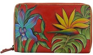 Anuschka Women's Handpainted Leather Twin Zip Organizer Wallet-