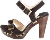 Jimmy Choo Studded Suede Clogs
