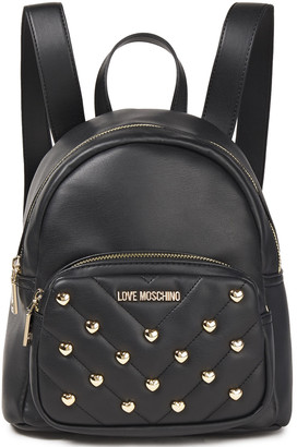 Love Moschino Studded Faux-leather Backpack