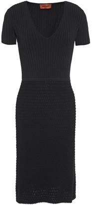 Missoni Ribbed And Boucle-knit Dress