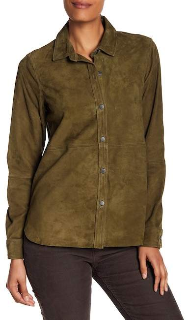 Current/Elliott The Clean Perfect Suede Shirt