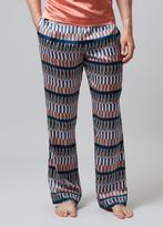 Meng MENG Men S Geometric Printed Silk Satin Pajama Bottoms