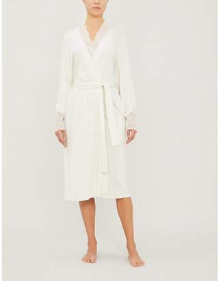 Hanro Aria stretch-jersey lace robe