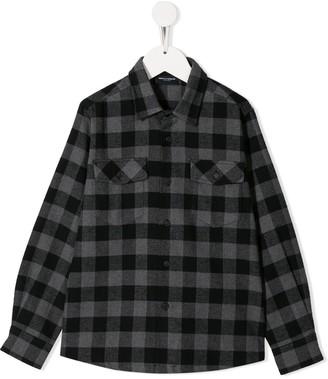 Marcelo Burlon County Of Milan Kids Printed Check Shirt