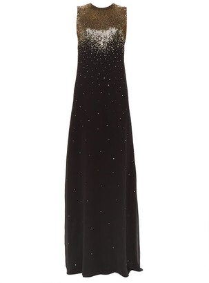 Givenchy Gradient Sequin Silk-georgette Gown - Womens - Black Gold