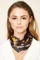 Forever 21 FOREVER 21+ Floral Square Scarf