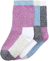 Joe Fresh Toddler Girls' 3 Pack Grip Socks, Purple (Size 1-3)