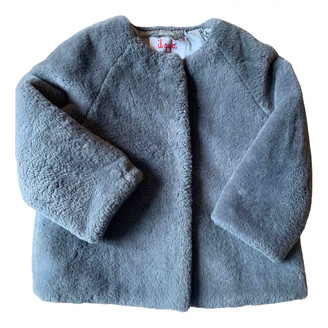 Il Gufo Grey Faux fur Jackets & Coats