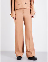 Elizabeth and James Maslin wide high-rise cotton trousers