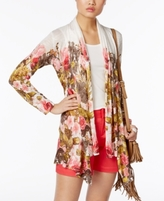 INC International Concepts Petite Floral-Print Draped Cardigan, Created for Macy's