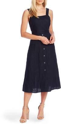 Vince Camuto A-Line Sleeveless Linen Dress
