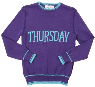 Alberta Ferretti Thursday Intarsia Cotton Knit Pullover