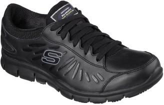 Skechers Eldred Workwear Slip Resistant Trainers - Black