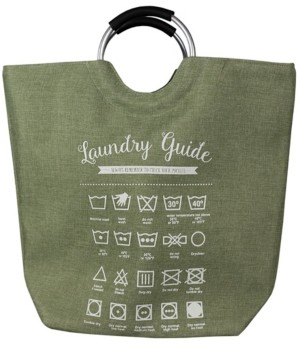 Home Basics Hds Trading Corp Laundry Guide Canvas Hamper Tote with Soft Grip Handles