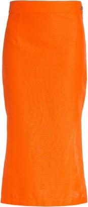 Simon Miller Prado Cotton & Linen Midi Skirt