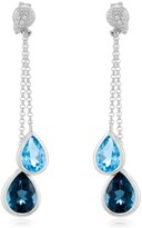Effy Jewelry Effy Ocean Bleu 14K White Gold Blue Topaz and Diamond Earrings, 4.28 TCW