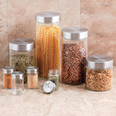 Oggi Round Airtight Glass Canister & Spice Jar Set, 8 piece