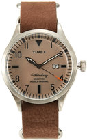 Timex TW2P64600 Silver-Tone & Brown Watch