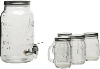 Mason Jars Mason Crafts & More 5-Piece Drink Dispenser Set