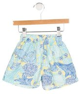 Lilly Pulitzer Girls' Printed Cloqué Shorts