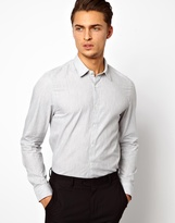 Asos Smart Textured Shirt in Long Sleeve with Club Collar
