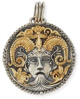 Konstantino Capricorn Carved Zodiac Pendant with Diamond