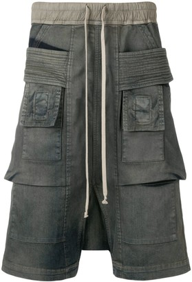 Rick Owens Denim Cargo Shorts