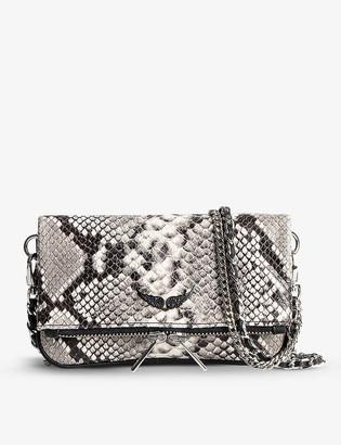 Zadig & Voltaire Rock Nano leather clutch bag