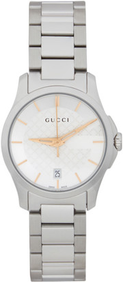 Gucci Silver Iconic G-Timeless Watch