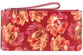 Salvatore Ferragamo Small Floral-Print Zip Pouch Wristlet