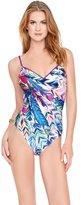Gottex Women's Les Plumes One Piece Lingerie Strap Tank Swimsuit