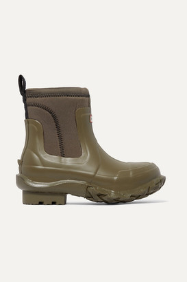 Stella McCartney Hunter Rubber And Yulex Ankle Boots - Army green