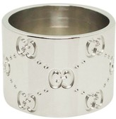 Gucci 18K White Gold Wide Band Ring