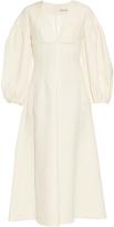 Emilia Wickstead Martha balloon-sleeve woven dress