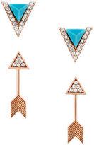 Lucky Brand Arrow Stud Earrings Set