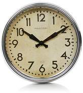 George Home Stylised Chrome Wall Clock