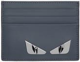 Fendi Blue 'Bag Bugs' Card Holder