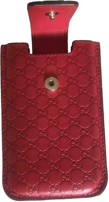 Gucci Red Leather Accessories